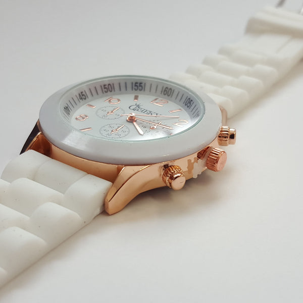 amazing deals on designer watches under £100 uk delivery stylish ladies white silicone w rose gold fashion watch by cheeky he 13 white
