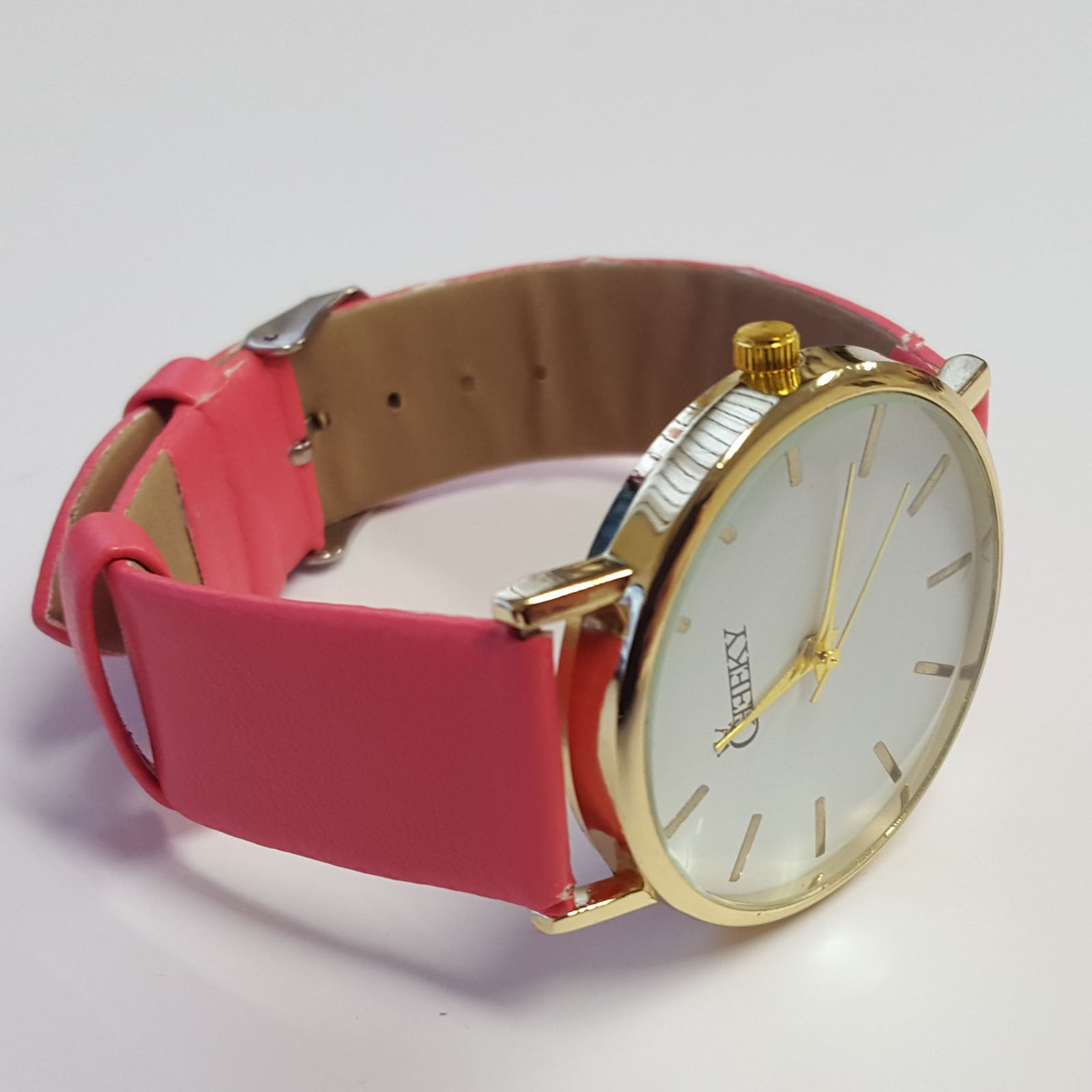 women analogue womens pink watches geneva watch s d dial