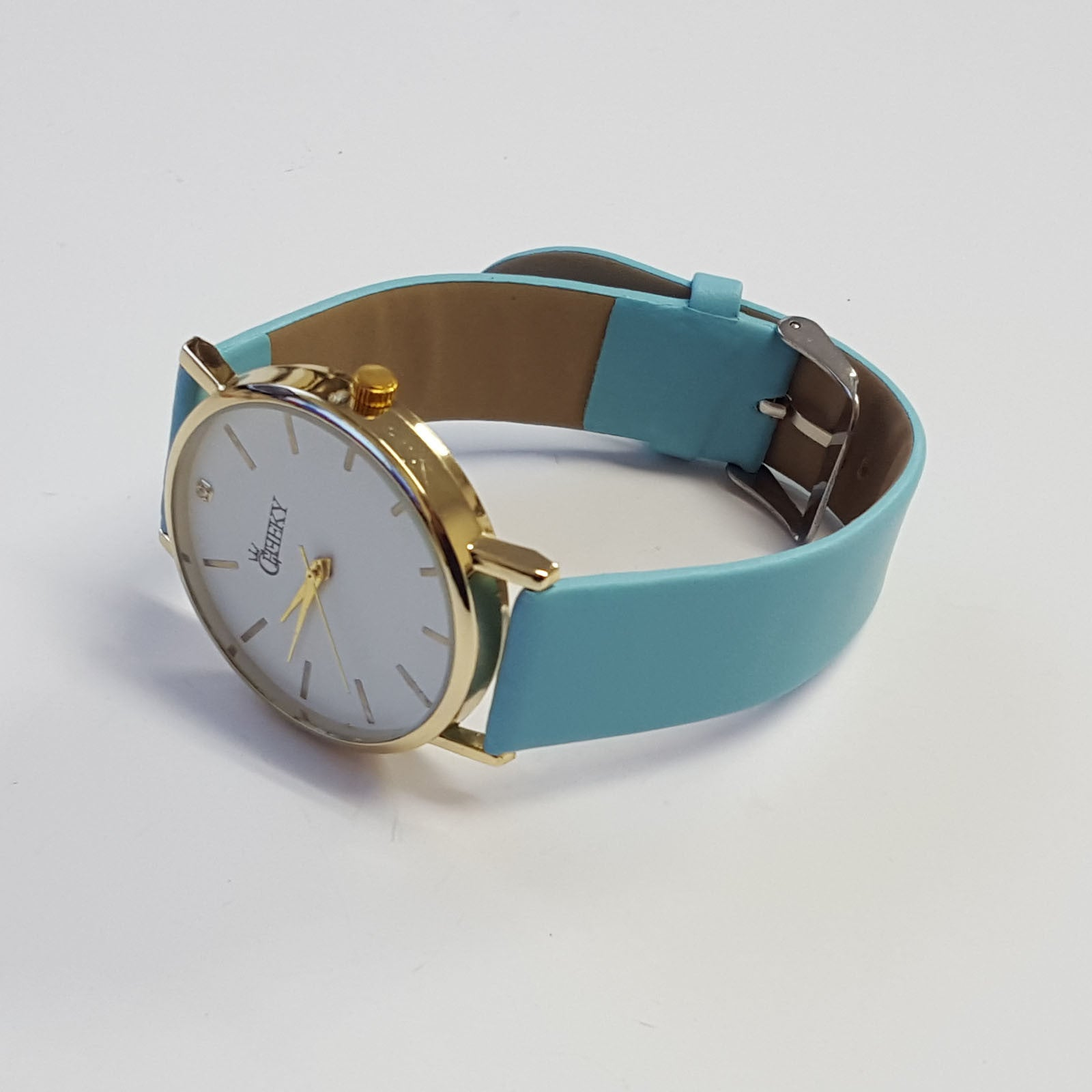 cheeky ladies faux blue leather large face analogue watch he010 cheeky ladies faux blue leather large face analogue watch he010 light blue