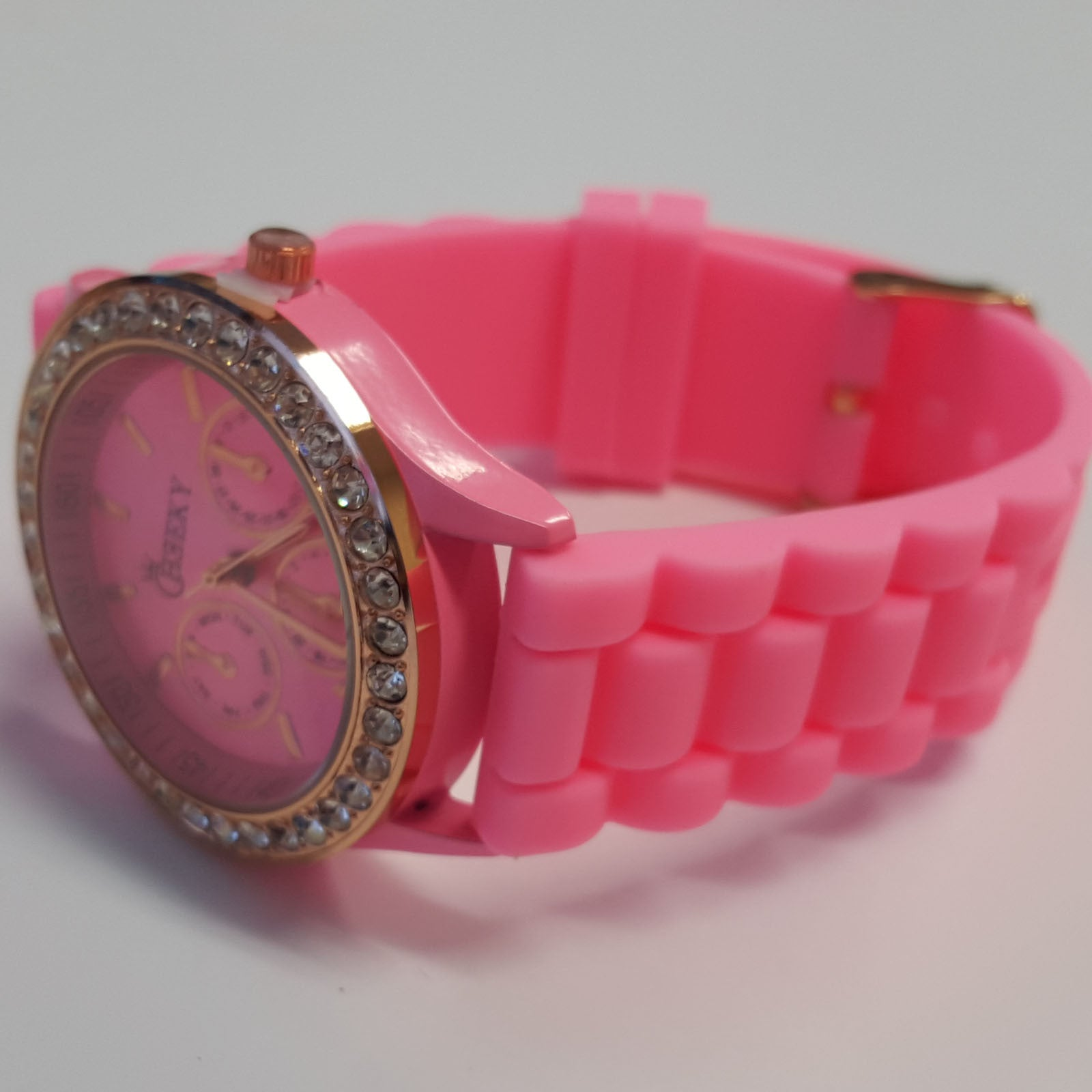 womens pink leather detail bow strap watch p audrea watches ted us accessories baker baby
