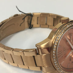 Classy Ladies Jet Set SWAG Rose Gold Stainless Steel Chrono Watch J16216-022