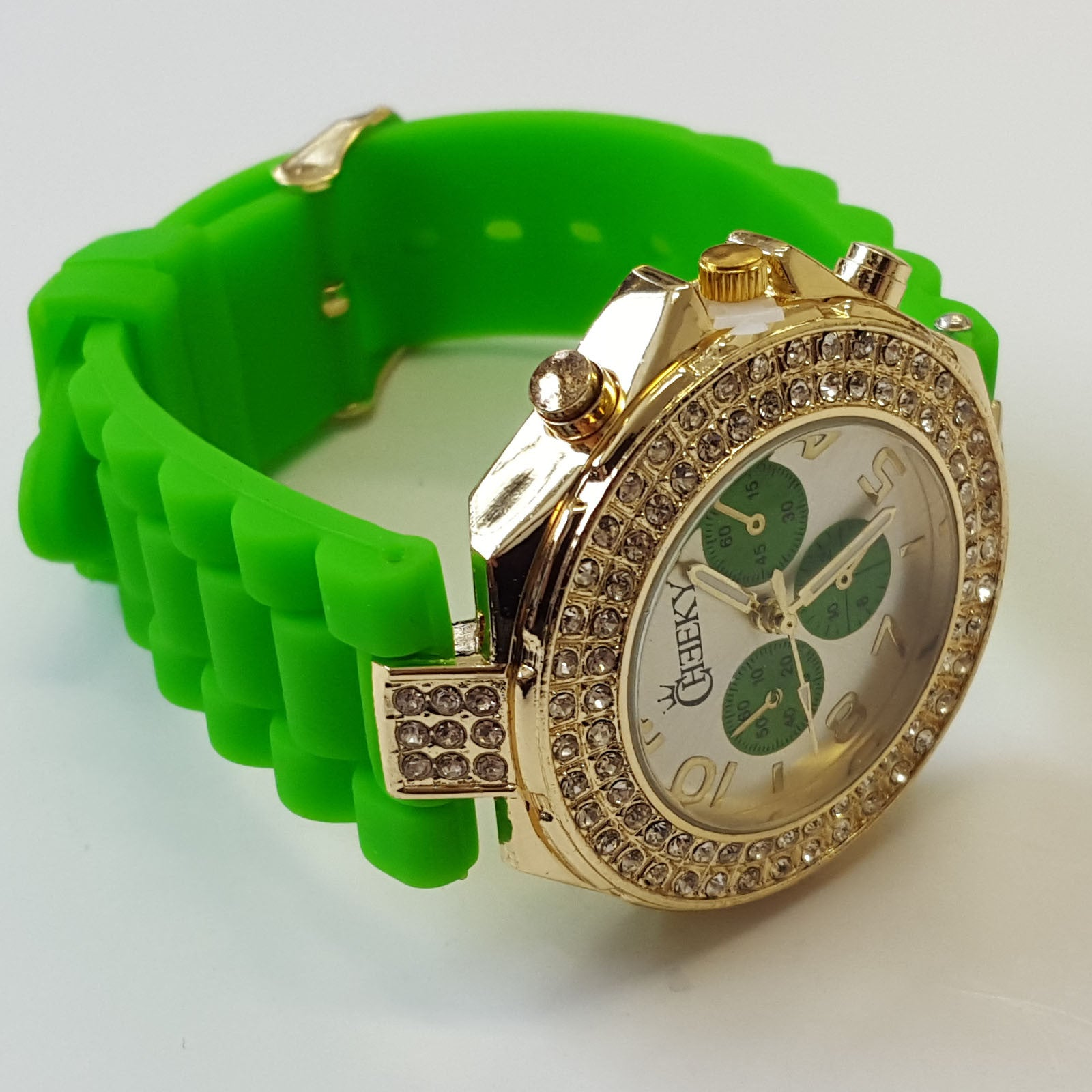 etc hands green with re accents dials watches
