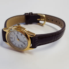 Sekonda Ladies Brown Leather Gold Coloured Quartz Analogue Luxury Watch 4495