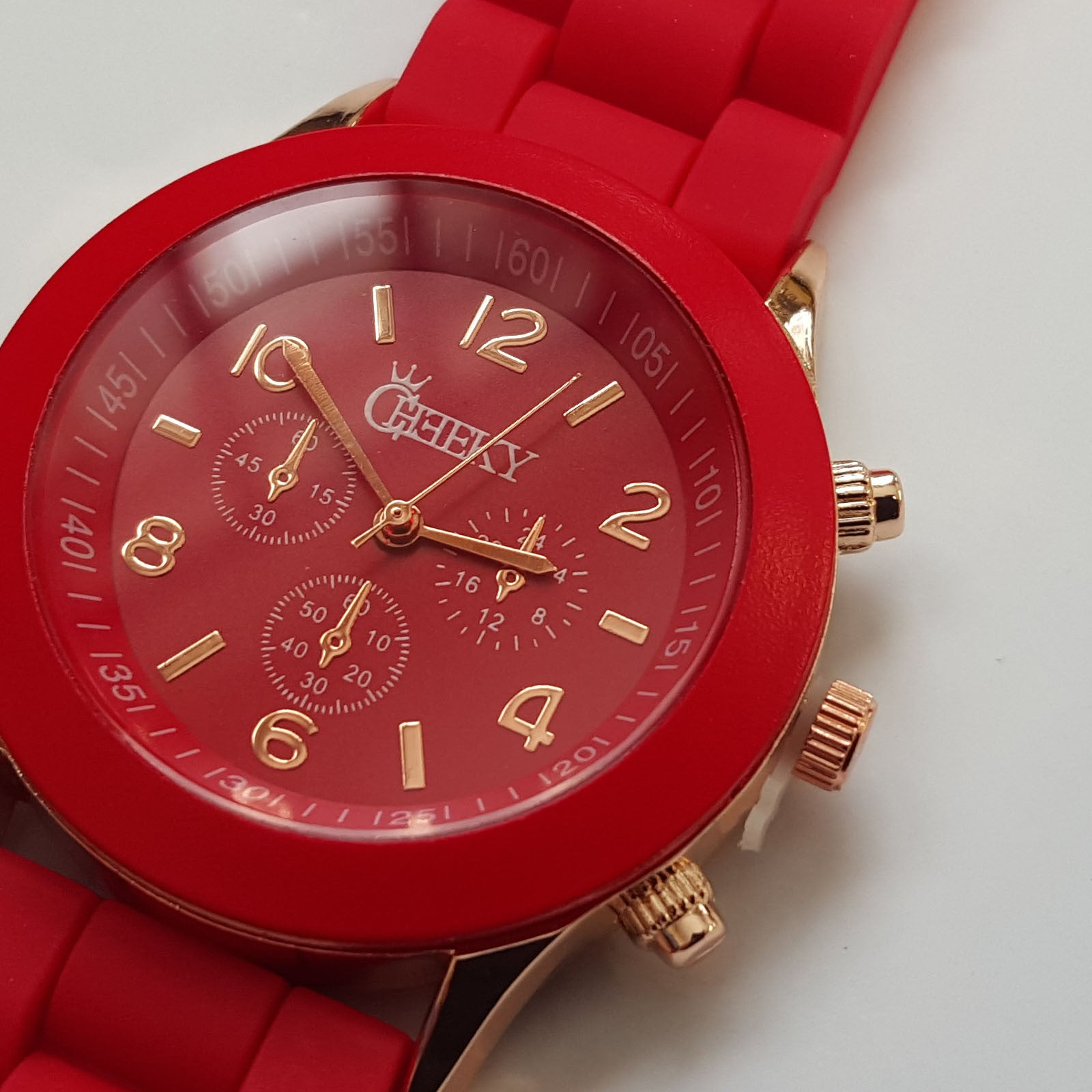 watch men pin chronograph fossil red mens silicone nate watches s