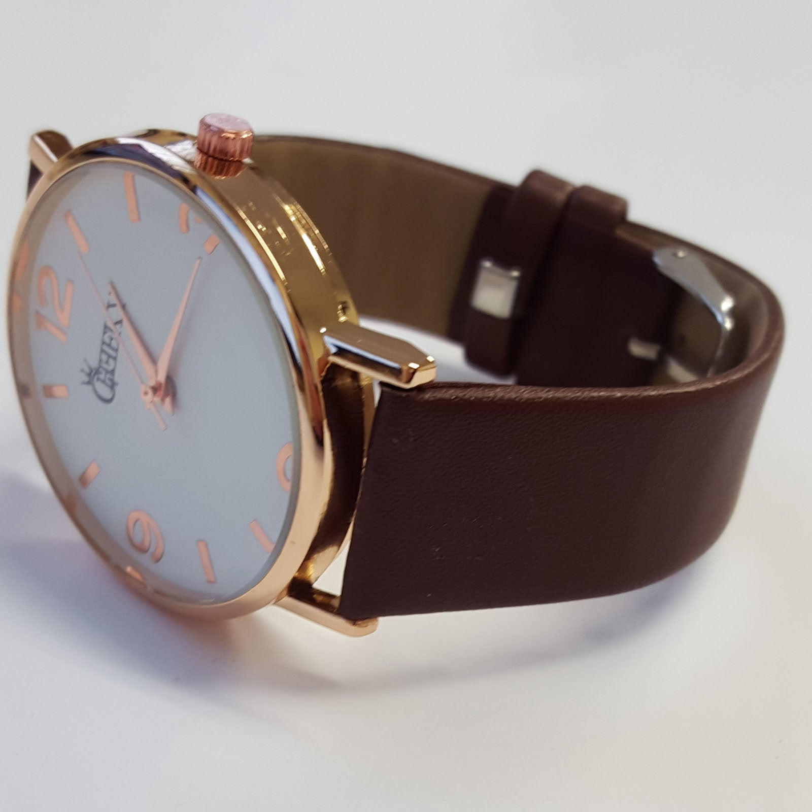 Cheeky Ladies Faux Leather Strap Brown Dial Analogue Watch HE009 Brown