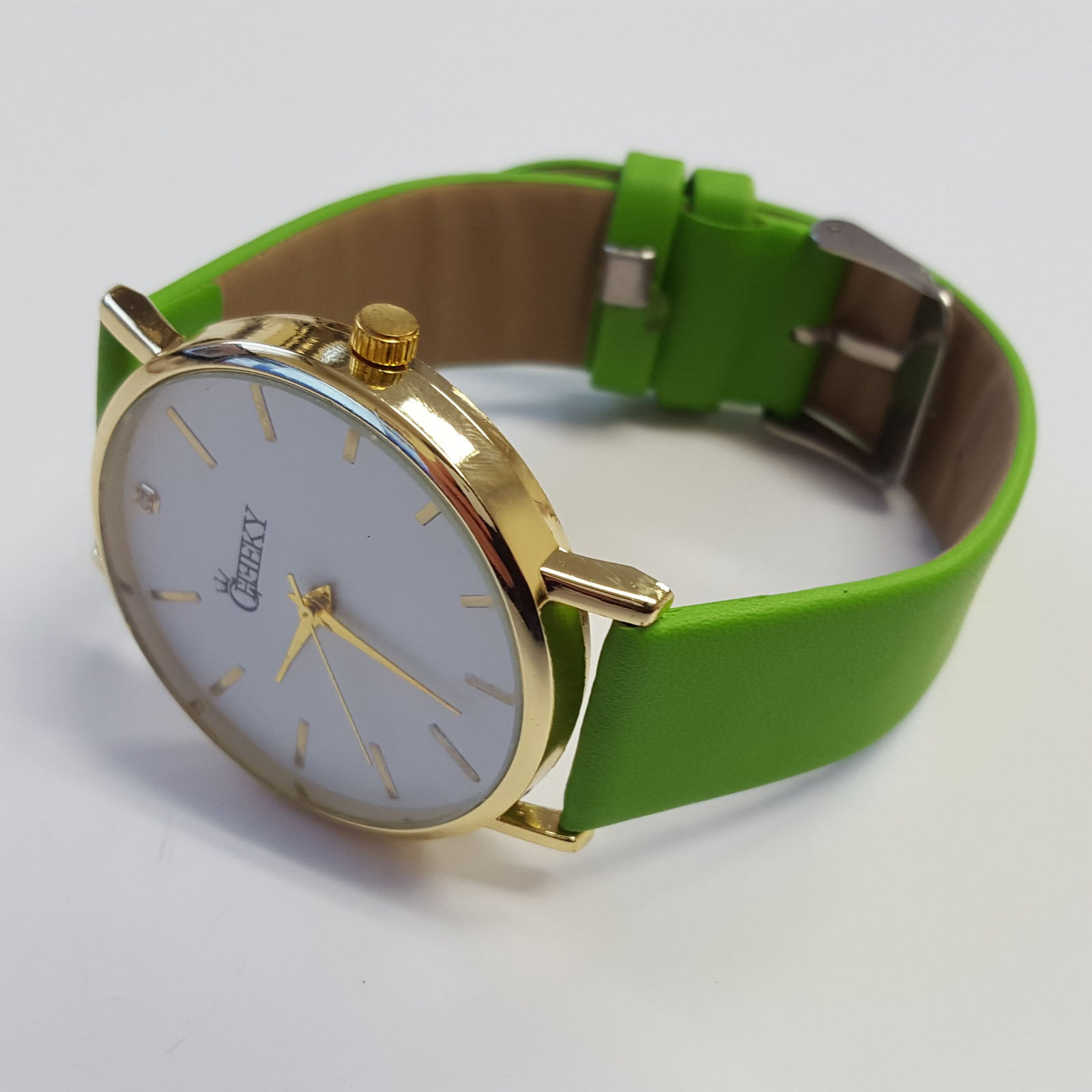 cheeky ladies faux green leather large face analogue watch he010 cheeky ladies faux green leather large face analogue watch he010 green