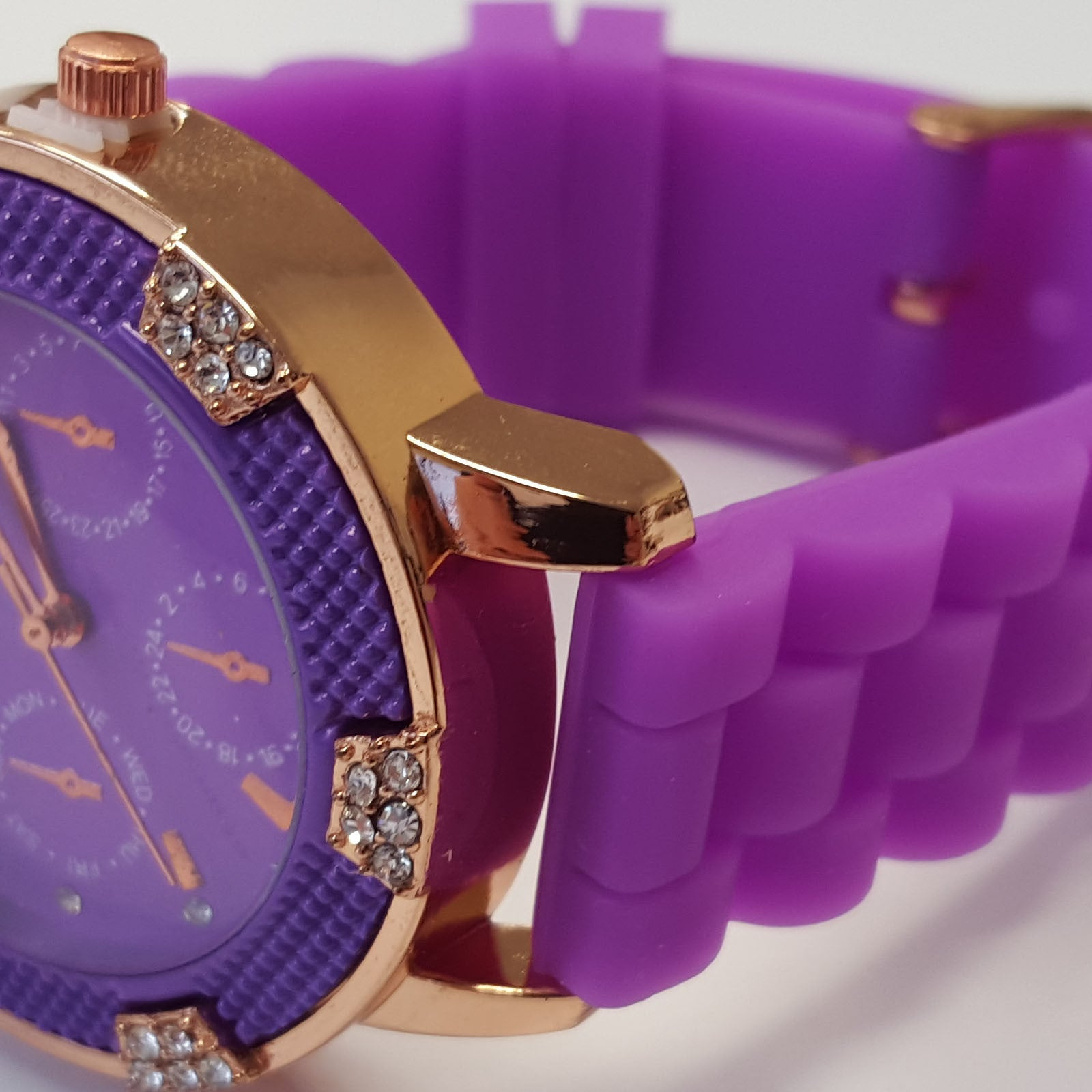 Cheeky Ladies Watch Purple Dial Analogue Purple Silicone Strap HE001 Purple