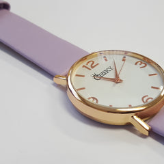 Cheeky Ladies Faux Leather Strap Purple Dial Analogue Watch HE009 Purple