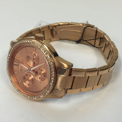 Stylish Ladies Jet Set SWAG Rose Gold Stainless Steel Chrono Watch J1621R-022