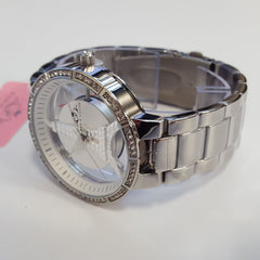 Paris Hilton Ladies Silver Stainless Steel Luxury Fashion Watch BPH50114-201