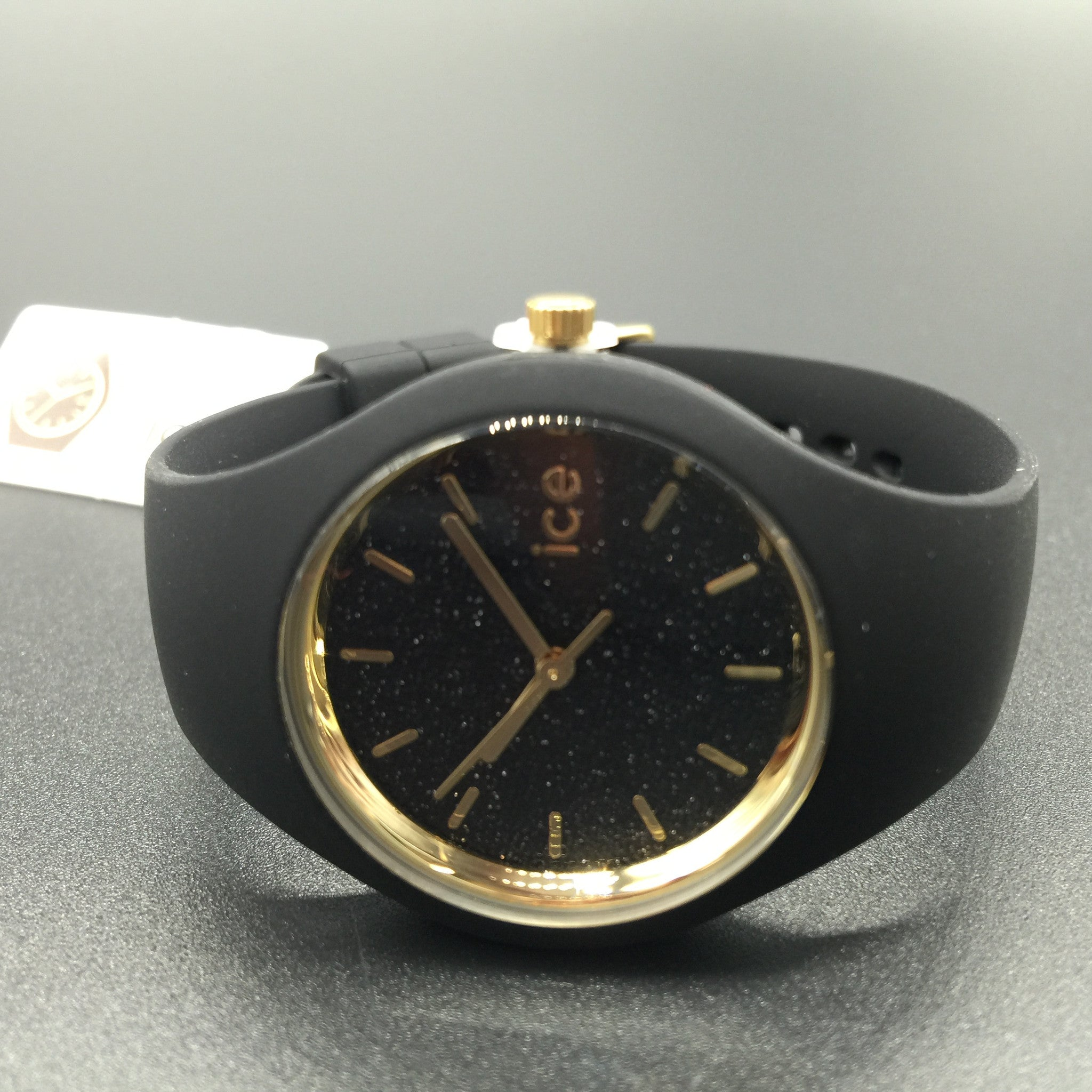 Woman s Black and Gold Glitter ICE Watch ICE.GT.BBK.S.S.15 – Chronos Market  Place f7ac97c80661