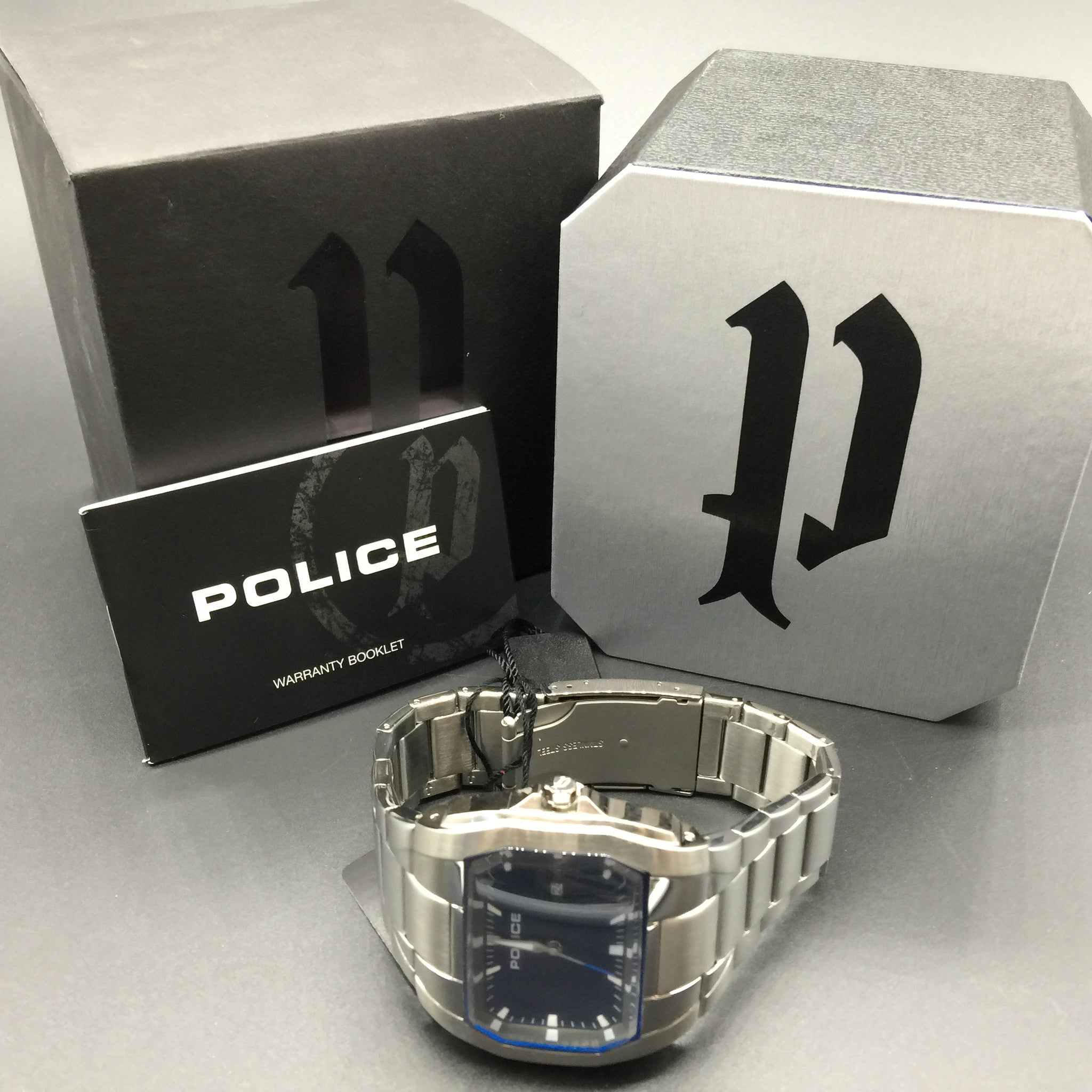 Police Casual Analog Mens Silver Watch PL14189JS-03M