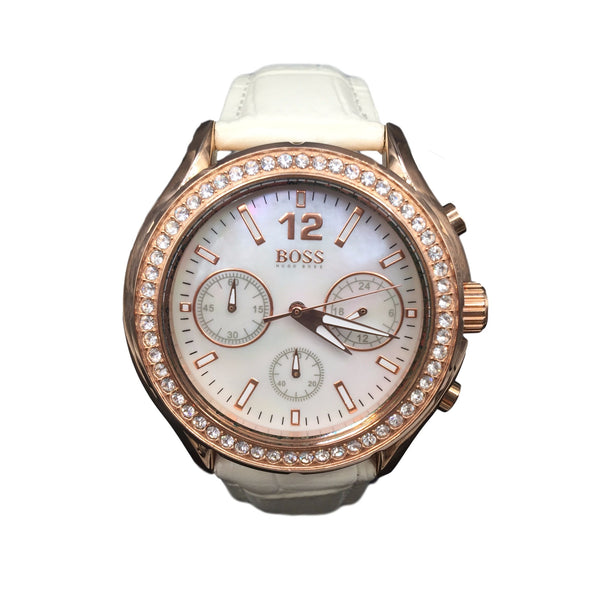 Hugo Boss Ladies Rose Gold Mother of Pearl Watch 1502263