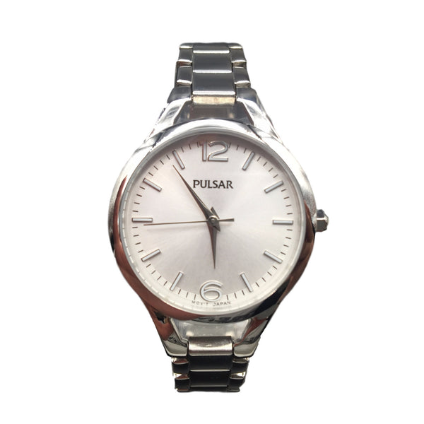 Pulsar Ladies Stainless Steel Silver Analogue Watch PH8183