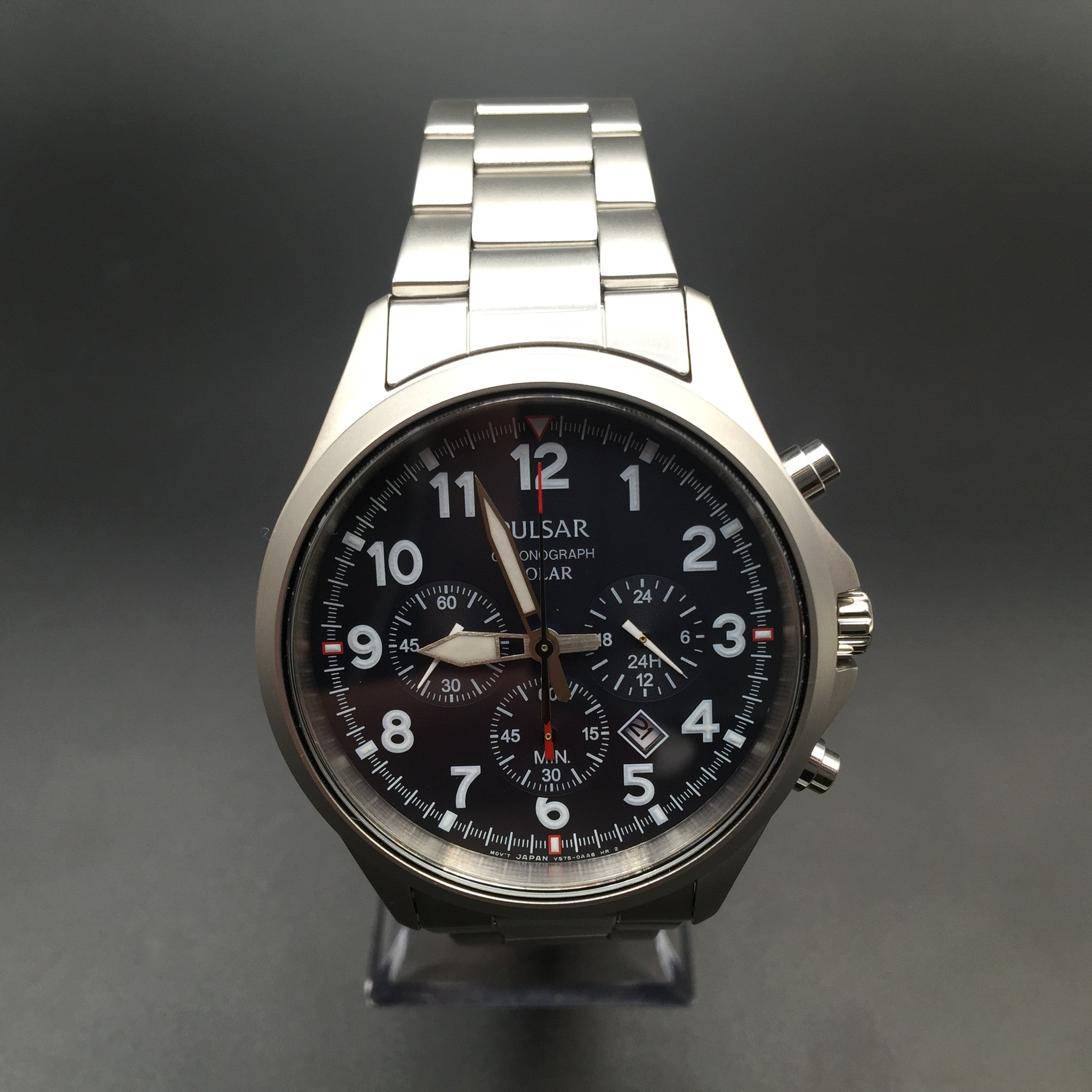 Pulsar Gents Chronograph Stainless Steel Solar Watch PX5001
