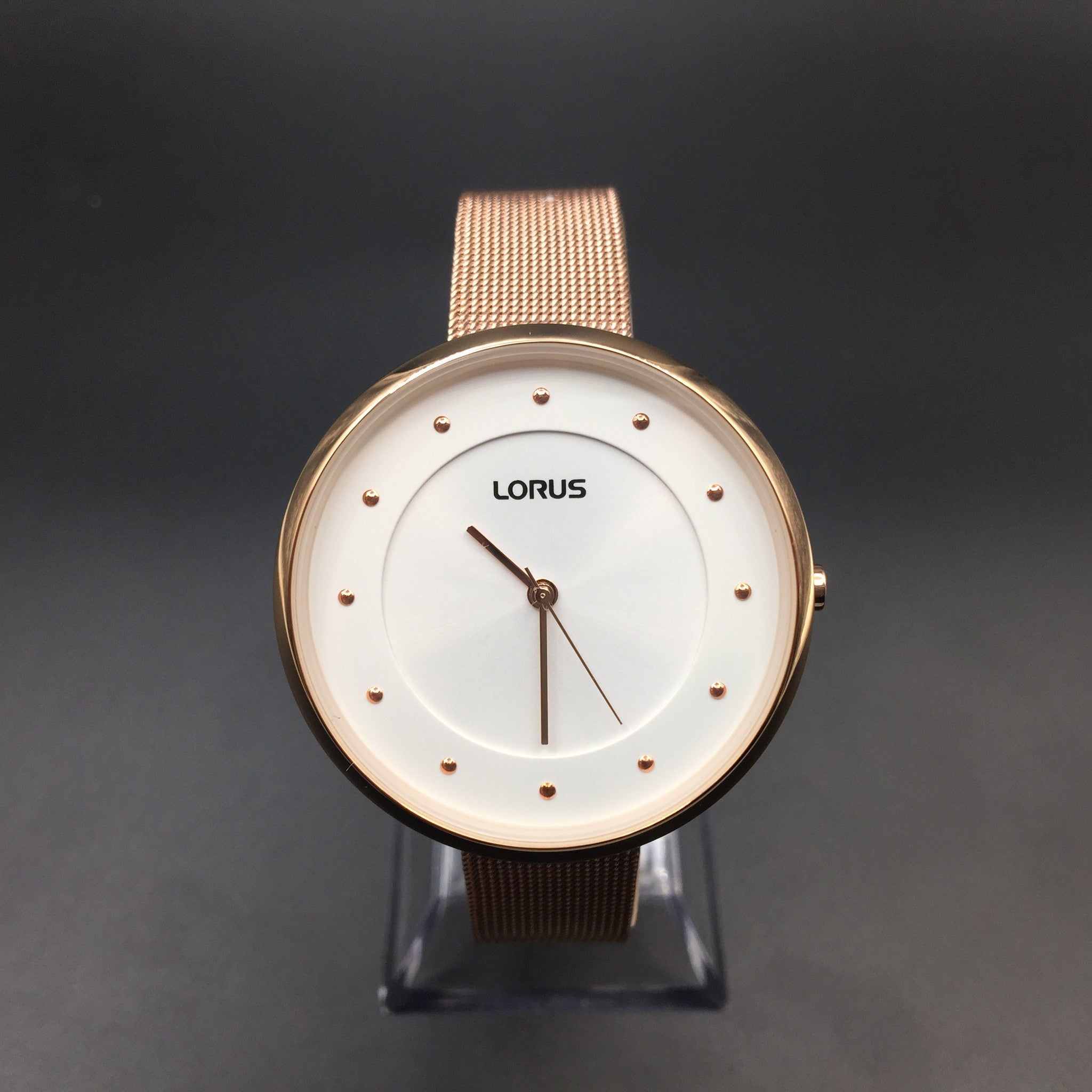Lorus Ladies Rose Gold Bracelet Watch RG288JX9