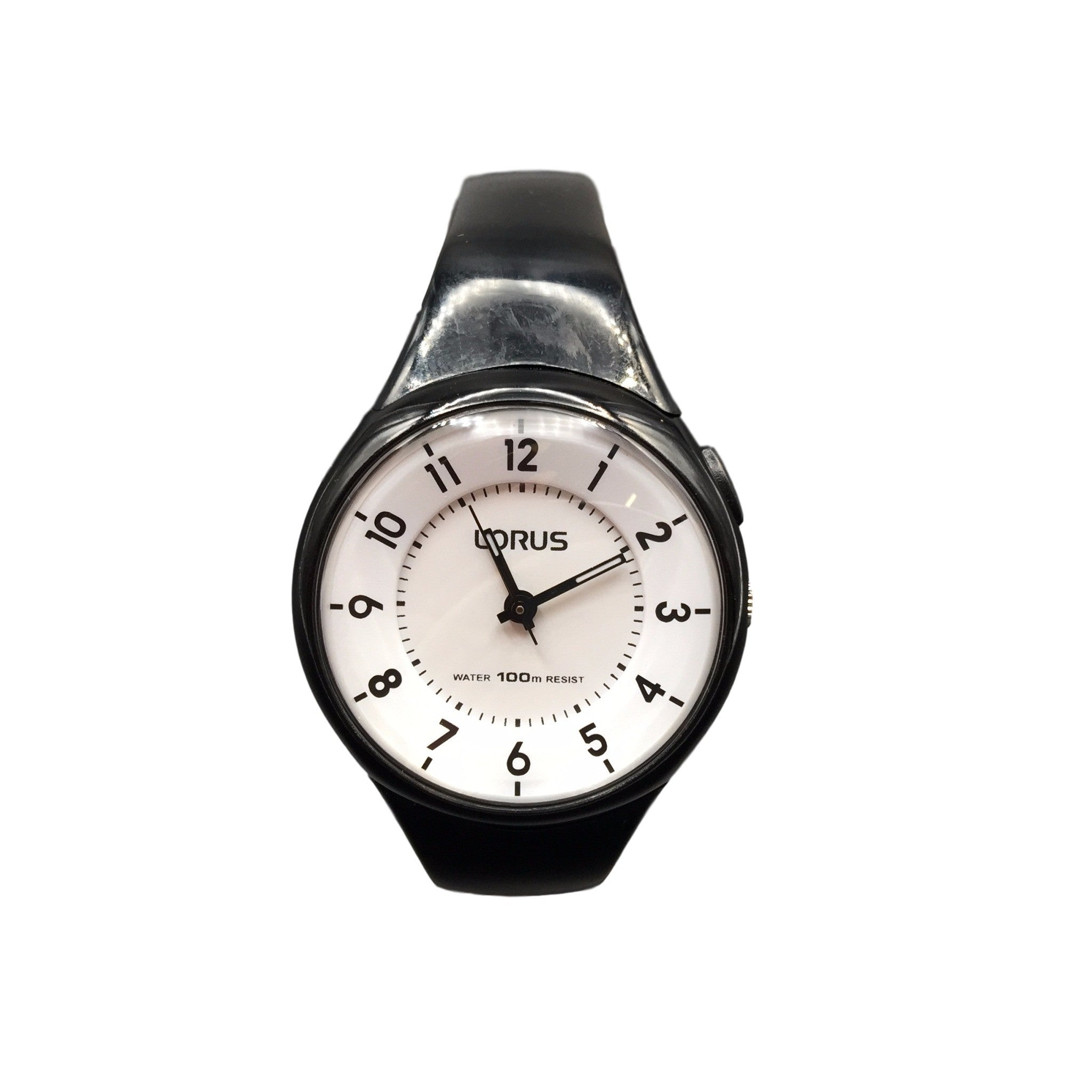 Lorus Ladies Black Resin Strap Watch R2315JX9