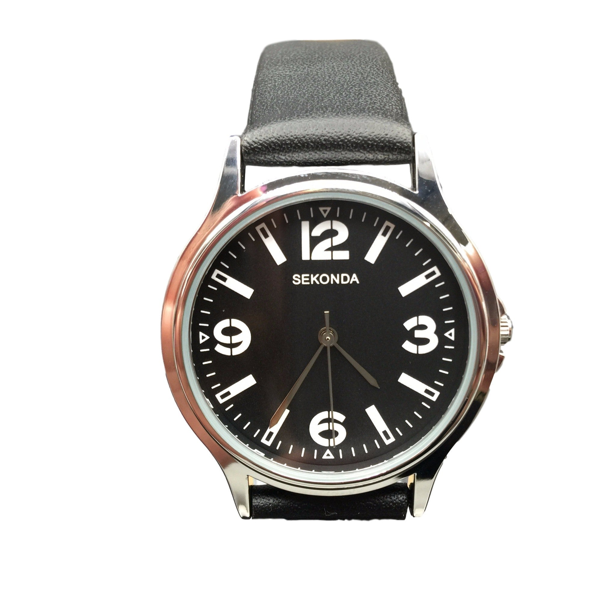vacchetta leather watches product black strap silver rehab the garnered fob watch shop