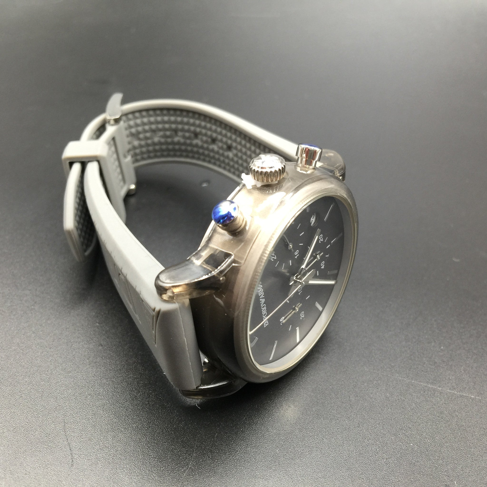 Armani Grey Silicone Watch AR1055
