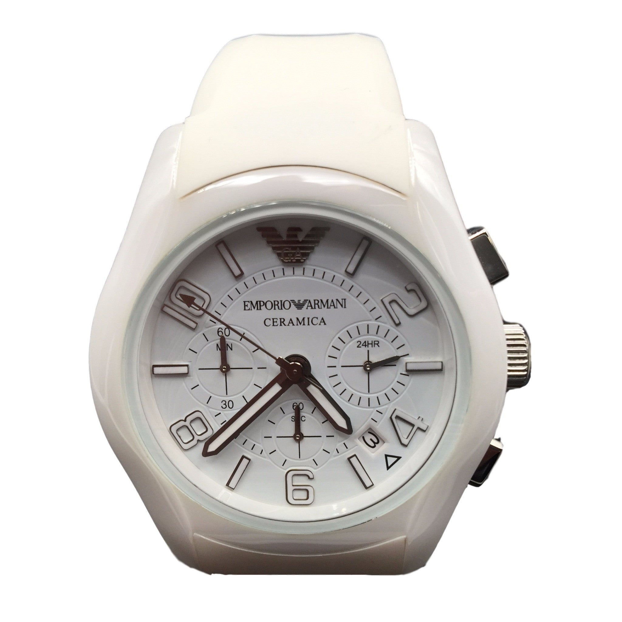 watch img rev products armani white chronos clipped ladies ceramica silicone market watches