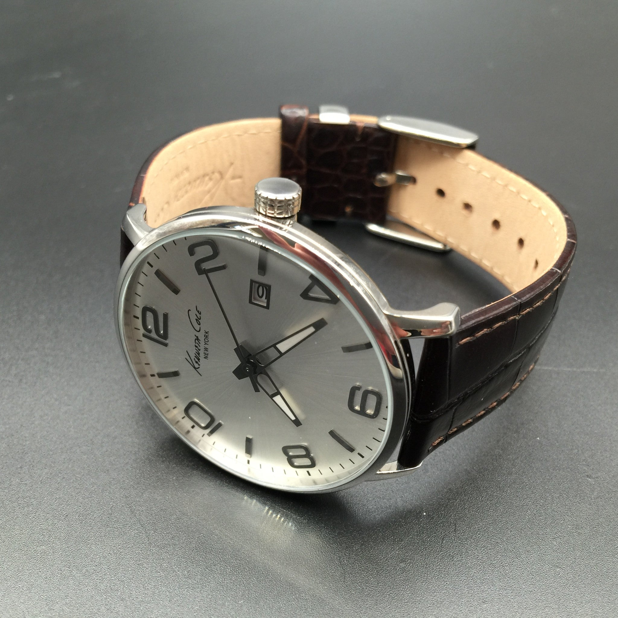 Kenneth Cole Brown Leather Watch KC8006
