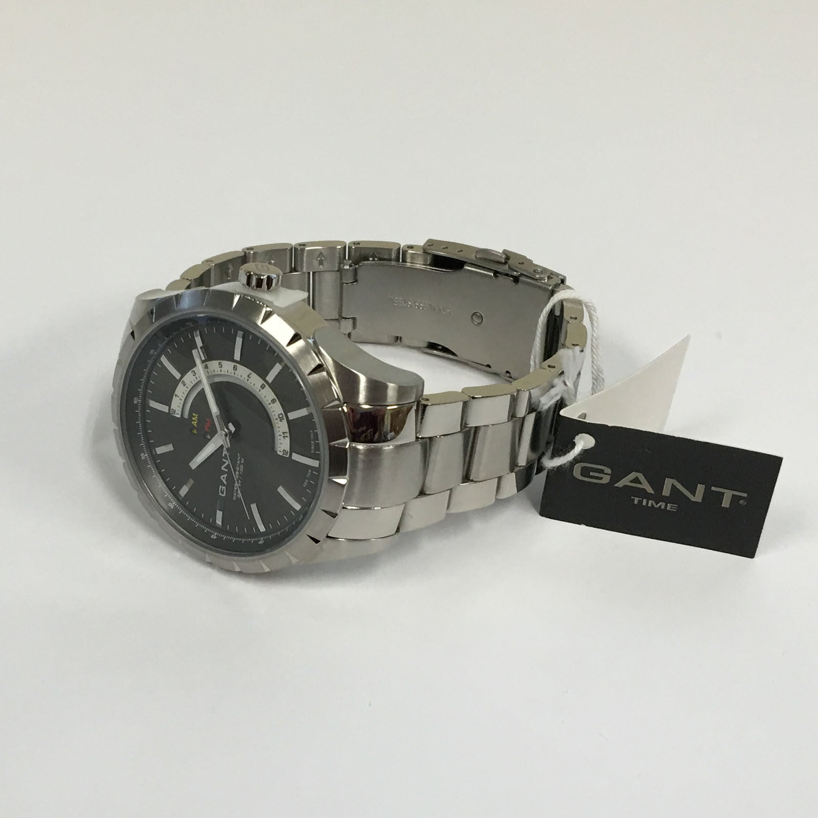 GANT Mens Silver Stainless Steel Strap + Case Black Dial BOXFORD Watch W10773