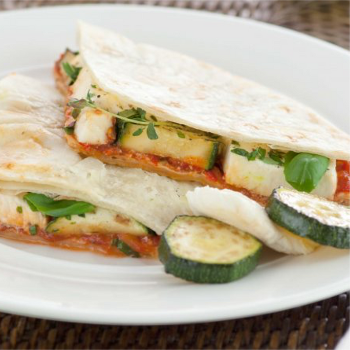 Gluten Free Wraps with Grilled Courgettes