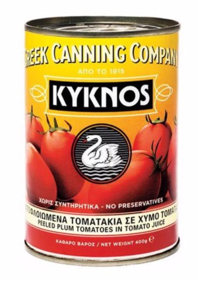 Kyknos Whole Peeled Plum Greek Tomatoes 400gr