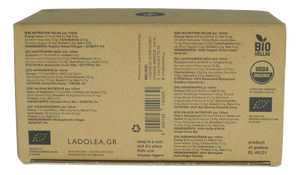 Ladolea Organic Extra Virgin Olive Oil, White Ceramic Pot & Organic Sweet Vinegar, Blue Ceramic Pot - 80ml x 2