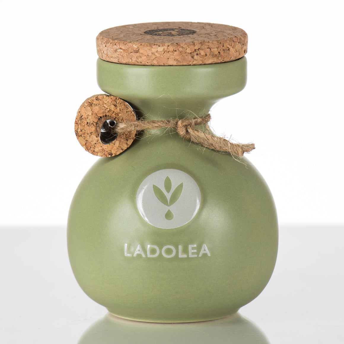 Ladolea Organic Greek Extra Virgin Olive Oil in a traditional Green Ceramic Pot - 200ml
