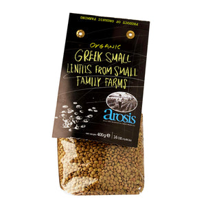 Arosis Organic Greek Small Lentils From Small Family Farms, 400gr