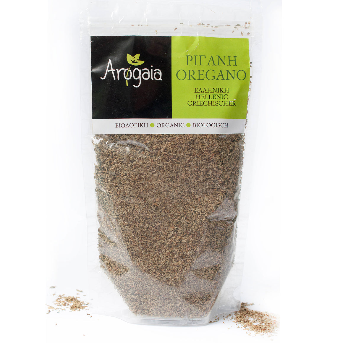 Arogaia Organic Greek Oregano in a resealable bag, 70gr