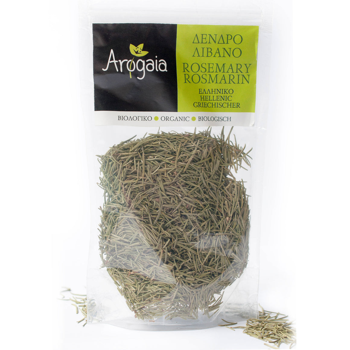 Arogaia Organic Greek Rosemary in a resealable bag, 50gr
