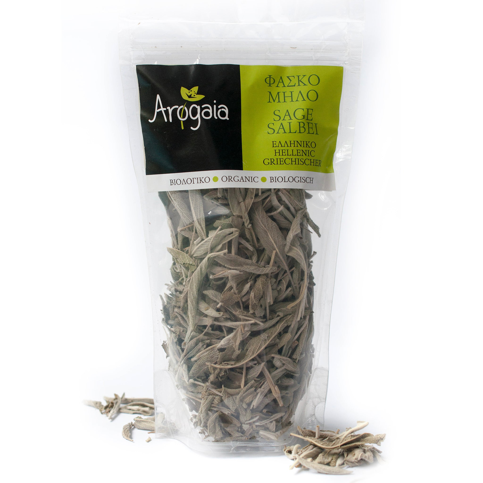 Arogaia Organic Greek Sage in a resealable bag, 40gr