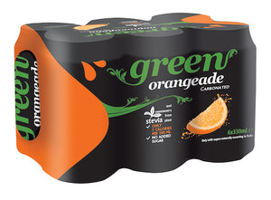 Green Cola Greek Orangade and Sweeteners from Stevia Plant 330ml-Agora Products