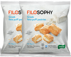 Greek Feta Puff Pastry Pies (14-16 pieces) x 2 bags