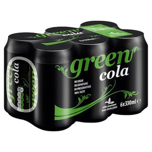 Green Cola and Sweeteners from Stevia Plant 330ml-Agora Products