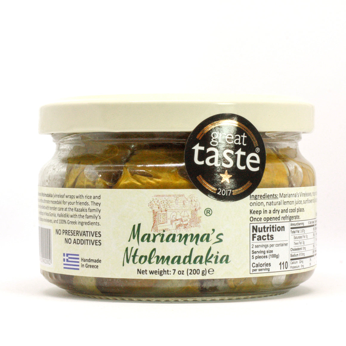 Marianna's Ntolmadakia or Dolmades Stuffed Vine Leaves - 200gr