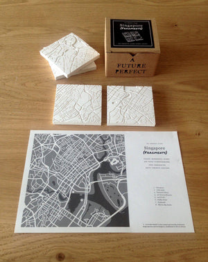 Singapore (Fragments) Coasters White