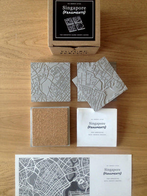 Singapore Cement Coasters in Grey-Agora Products