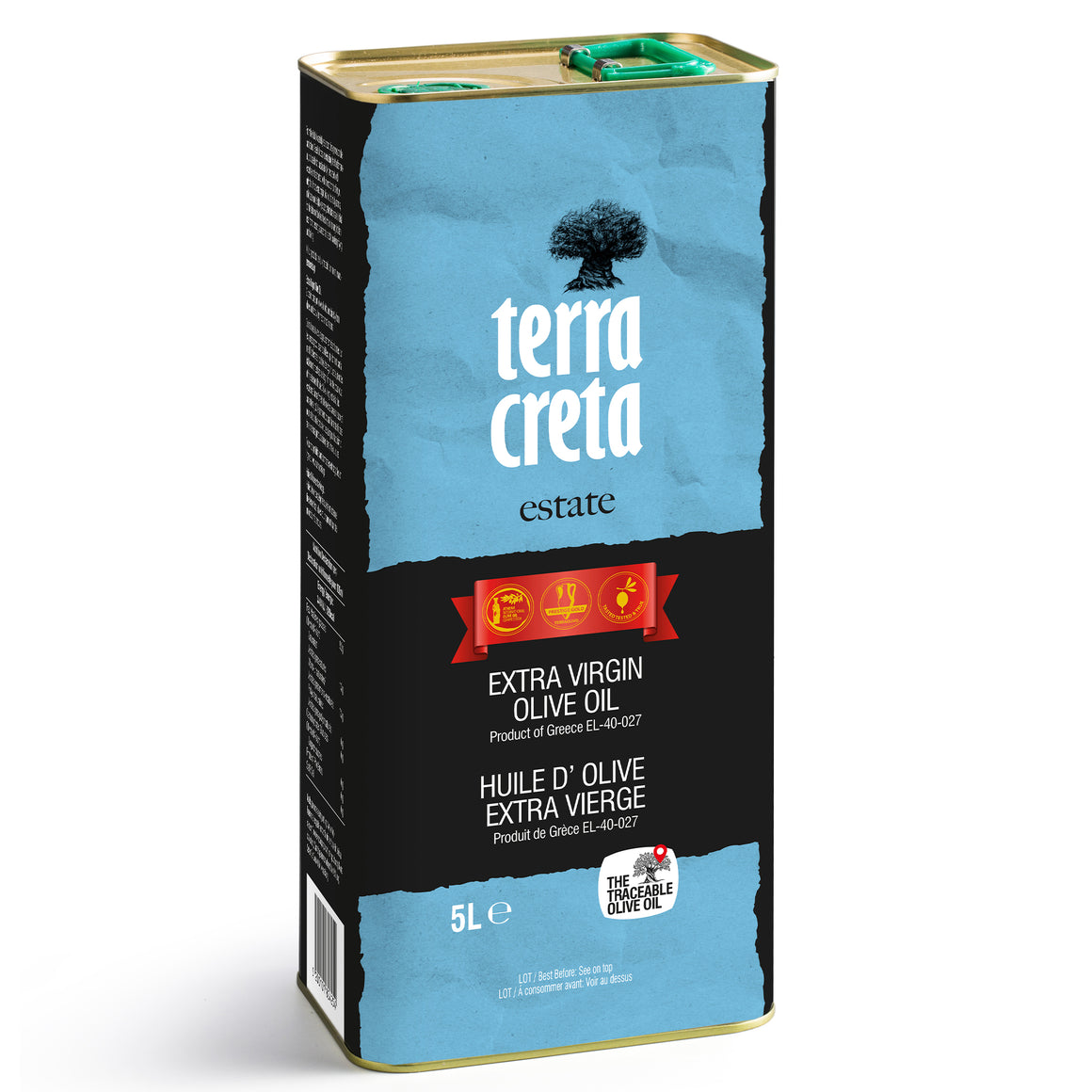Terra Creta Greek Extra Virgin Olive Oil - 5L