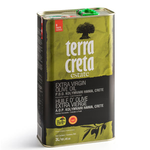 Terra Creta Estate Greek Extra Virgin Olive Oil PDO Kolymvari - 3L