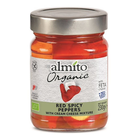 Almito Organic Red Spicy Pepper with Cream Cheese Mixture (feta)