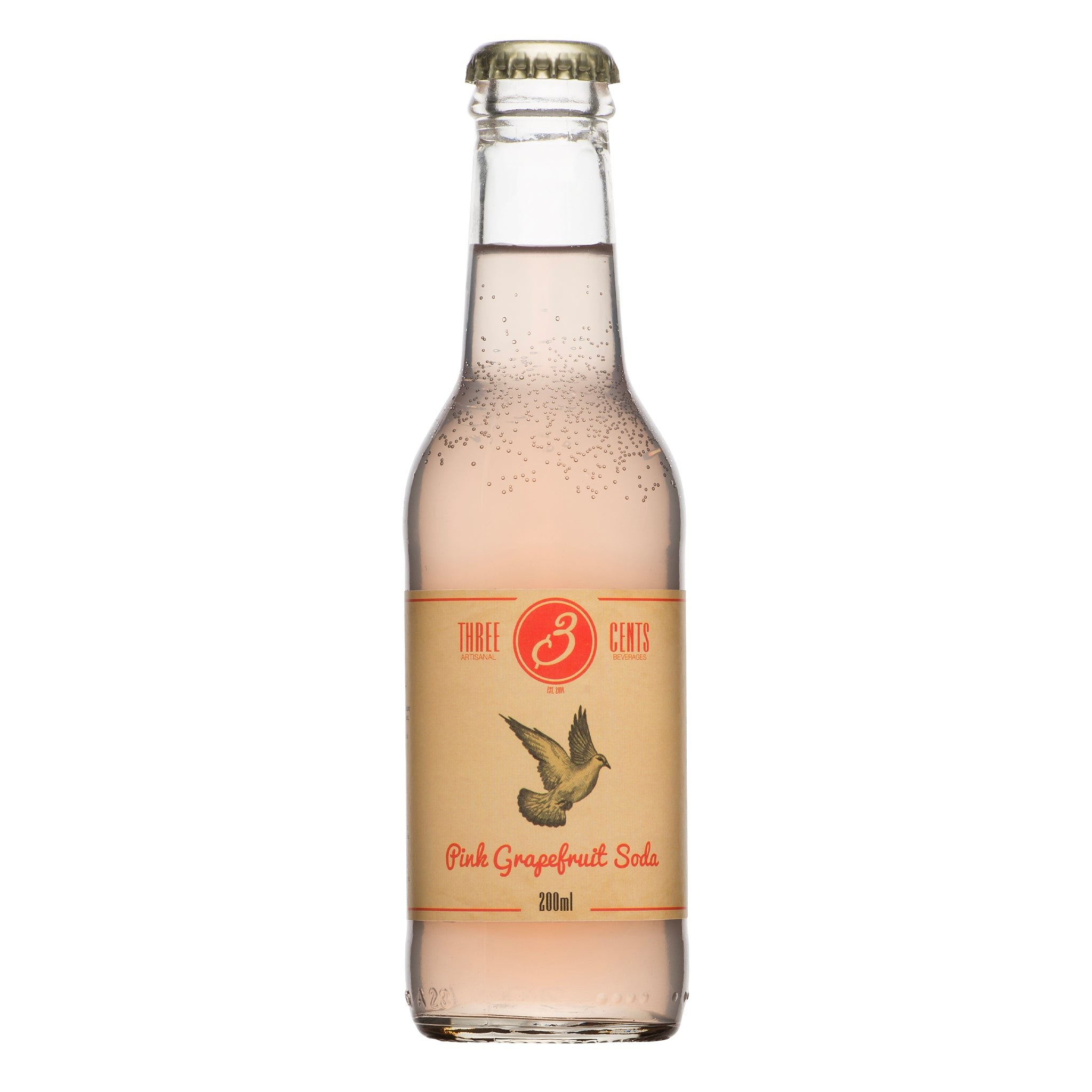 Three Cents Pink Grapefruit Soda 200ml