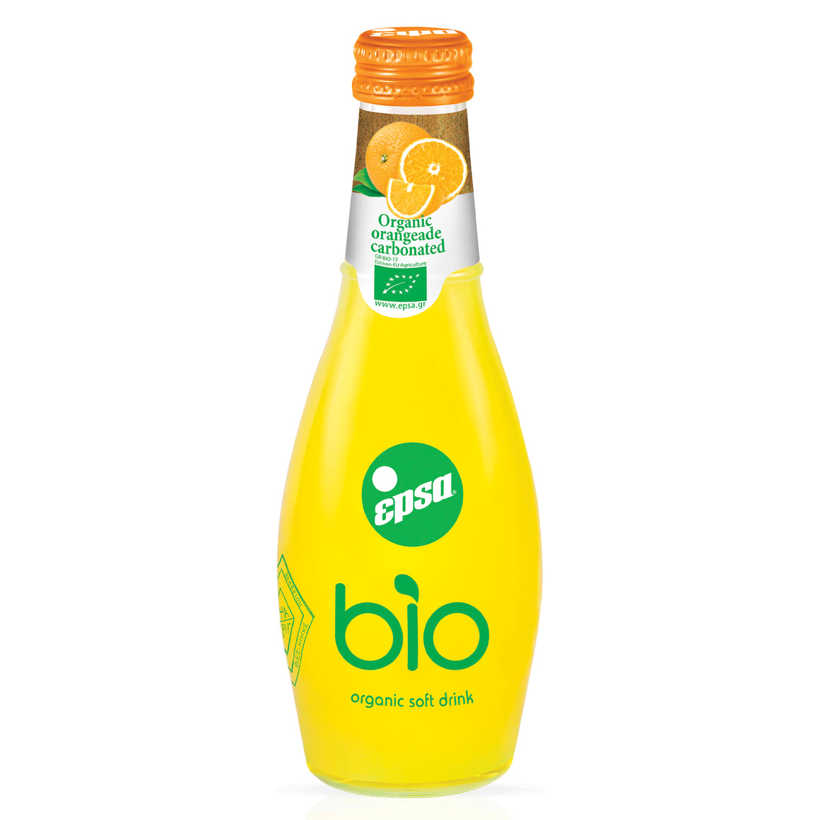 EPSA BIO Carbonated Orangeade, 232ml per bottle