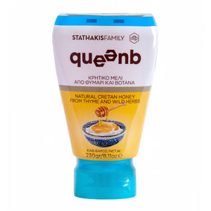 QUEENB Natural Greek Cretan Greek Honey from Thyme and Wild Herbs - 230gr