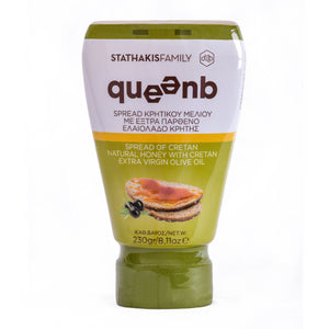 QUEENB Spread of Greek Cretan Natural Honey with Greek Extra Virgin Olive Oil, 230gr