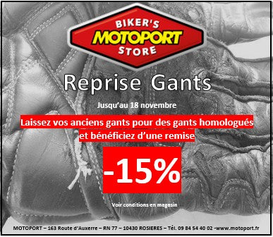 MotoPort Troyes reprend vos anciens gants