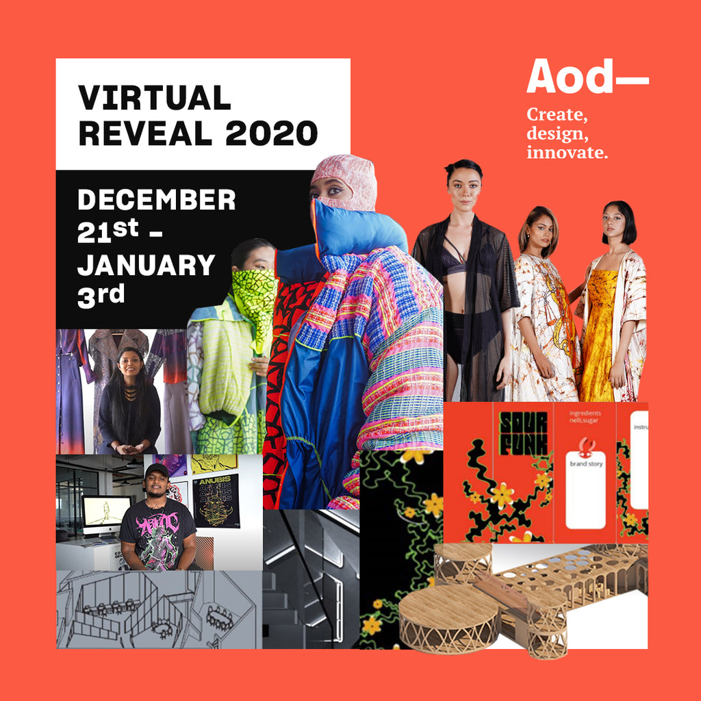 Fresh creativity, global design minds, leading jobs for young innovators—all coming together as AOD launches Reveal 2020 virtual grad show
