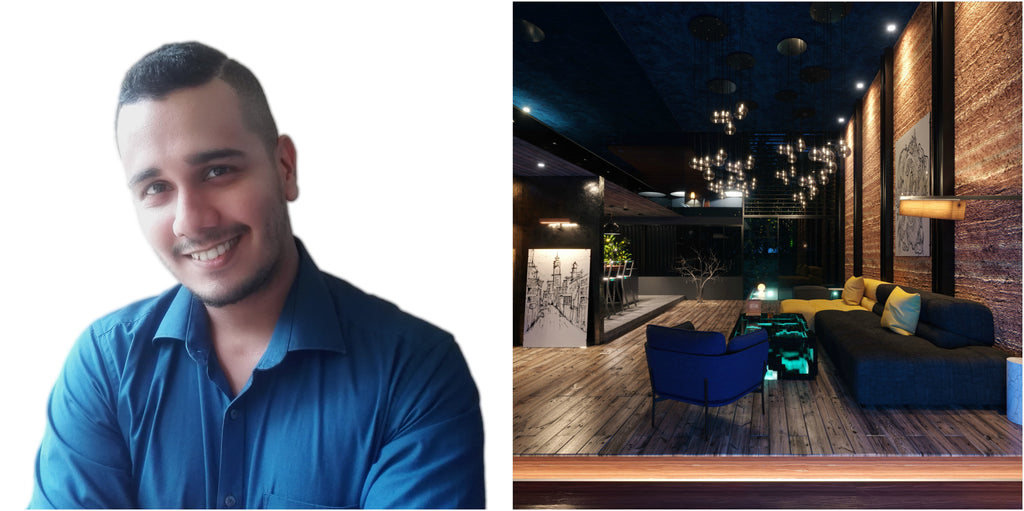AOD Alumni, Darren Vazirani specializing in architectural and product visualization with Interior Design